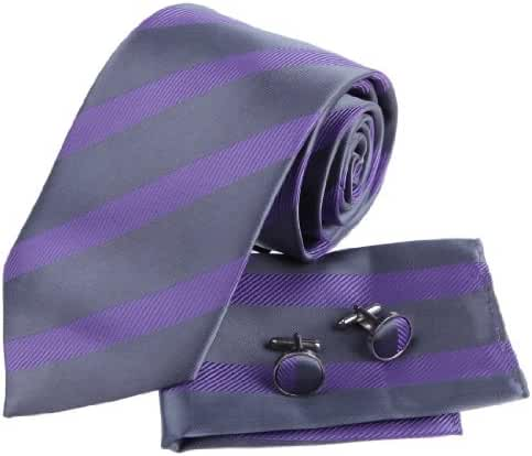 EAC1A14 Classic Striped Multicolored Silk Necktie Best Design for Mens By Epoint