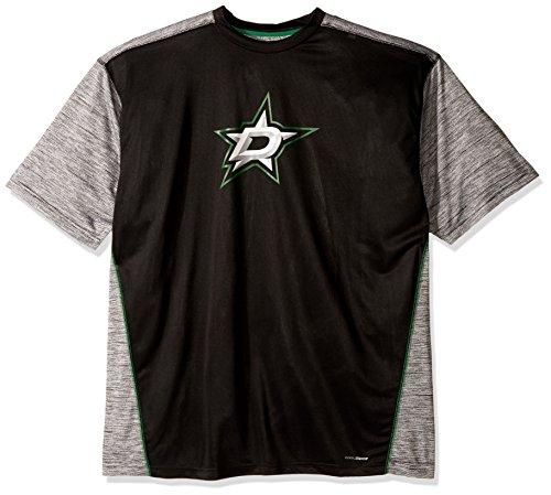 - NHL Dallas Stars Men's Big & Tall Short Sleeved Poly Screen Tee, 3X, Black