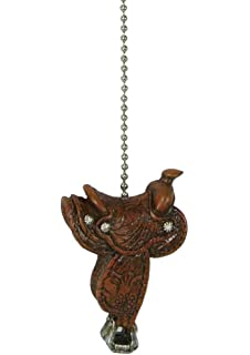 Rivers edge horse western cowboy ceiling fan light pull decorative cowboy western horse saddle ceiling fan pull chain extender aloadofball Images