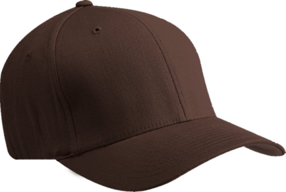 229a78f6 Galleon - Premium Original Blank Flexfit V-Flexfit Cotton Twill Fitted Hat  Cap Flex Fit 5001 Small / Medium - Brown