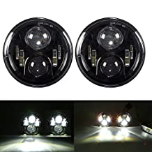 "7"" Inch Round LED Headlights Cree Chips Lamp H4 H13 Projection Headlight Kit for Jeep Wrangler JK TJ LJ Hummer"