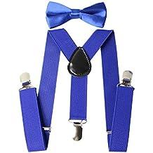 Keywin Baby Kids Boys Girls Toddler Suspender & Bow Tie Set Elastic Adjustable Clip-on Suspender-Heavy Duty