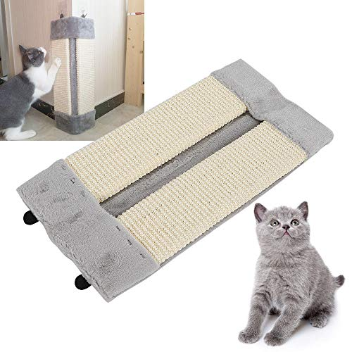 - YUNRUS Scratch Sisal Scratcher 19'' Pet Kitten Corner Sisal Wall Scratchers Cats Hanging Cat Scrach Board Mat