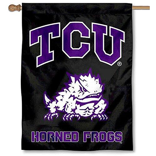 TCU Horned Frogs Black Banner House Flag