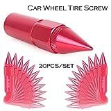 MALLOFUSA 20Pcs Red M12X1.5 60mm Extended Tuner Spike Lug Nuts Set for Honda Acura Toyota Scion Subaru