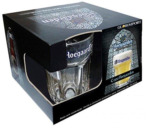 Hoegaarden Box com 4 Copos para Cerveja Ambev Transparente 400Ml