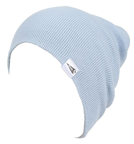 KooL Hop Kids Boys Girls Baby 100% Pure Cotton Knit Basic Beanie Hat Cap Sky Blue