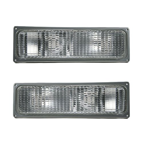 Parking Turn Signal Corner Lights Pair Set for Chevy GMC C/K Pickup (Chevy C/k Truck Parking Light)