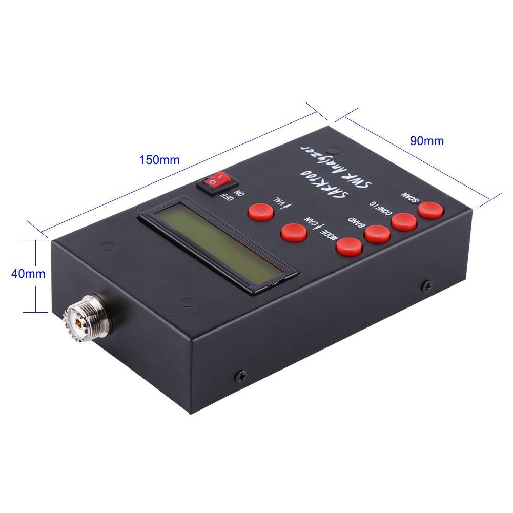 Sark100 Antennenanalysator 1-60MHz Kurzwellenantennenanalysator Messger/ätpr/üfger/ät SWR Meter Ham Radio Hobbyisten