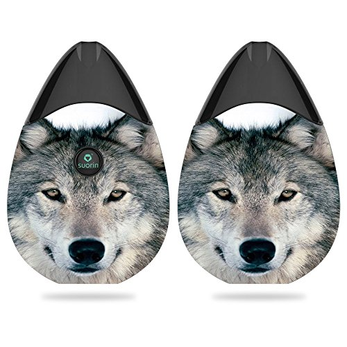 MightySkins Skin for Suorin Suorin Drop - Wolf | Protective, Durable, and Unique Vinyl Decal wrap Cover | Easy to Apply, Remove, and Change Styles | Made in The - Pack E Starter Cig