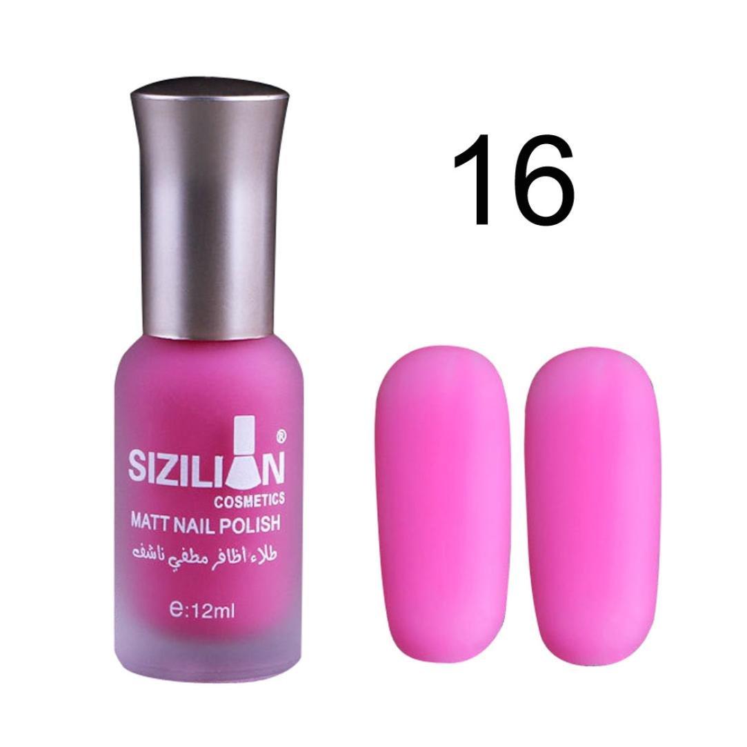TPulling Spiegeleffekt 12ML Dauerhafter Mmattes Nagellack Schnell Trocken Fast Dry Langlebige Nail Art Matte Nagellack Gel (D)