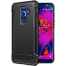 Nuu Mobile G3 Case, TUDIA Carbon Fiber Design Lightweight [LINN] TPU Bumper Shock Absorption Cover for Nuu Mobile G3 (Black)