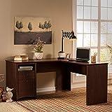 Buena Vista 60W L Shaped Desk in Madison Cherry