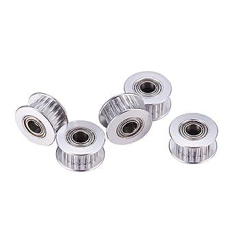 Incrreasway - Polea de aluminio GT2 (5 mm, 20 dientes, para ...