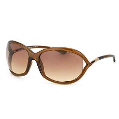 ce8bbb4f47 Tom Ford Jennifer FT0008 Sunglasses-692 Dark Brown (Gradient Brown  Lens)-61mm