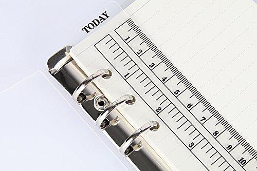 A5righello di plastica PP opaco satinato planner agenda per 6fori Loose Leaf Spiral notebook organizer PR001 Umei