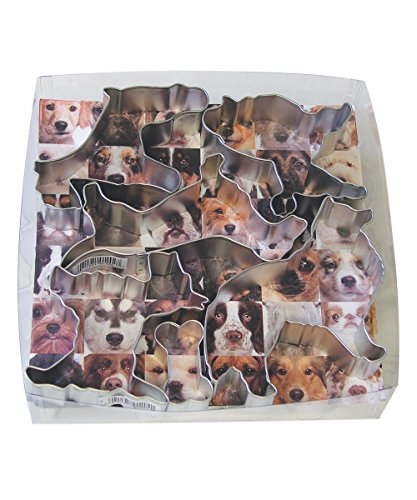 Dog Shaped Cookie Cutters (R&M International 1823 Bow Wow Dog Cookie Cutters, Assorted, 13-Piece Set)