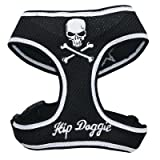 Hip Doggie Black Skull Mesh Harness Vest, Medium, My Pet Supplies