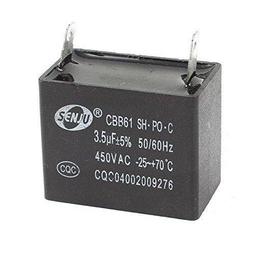 3.5uF 5% AC 450V 2pins Polypropylen-Folien-Motor Run Kondensator CBB61 DealMux DLM-B00VG9JTIS