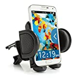 USA Gear Universal Air Vent Phone Mount Holder Cradle with Adjustable Display & 360 Degree Rotation - Works With Samsung Galaxy S7 , Motorola DROID Turbo 2 , Apple iPhone 6s and More Smartphones