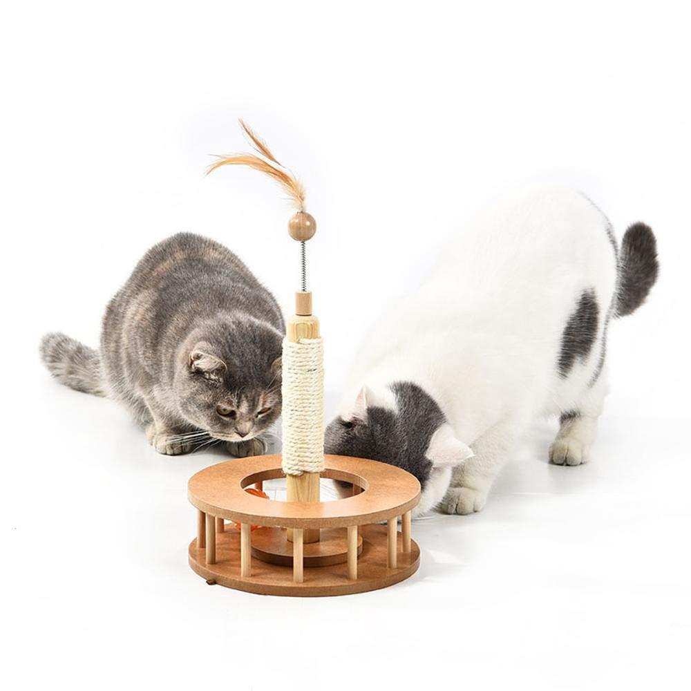 Hexiansheng Cat Climb Trees Wooden Fun toy Grinding Claw cat toy Density Board + sisal 20  6.7  40cm