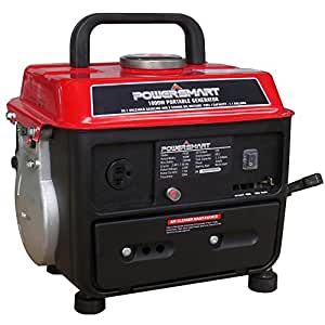 900-Watt Gasoline Powered Manual Start Portable Generator - Smooth, Quiet Operation