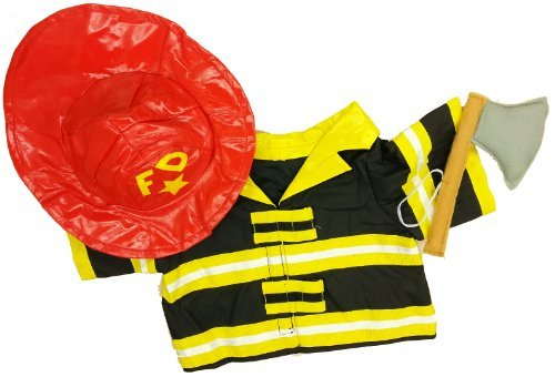 Fireman Outfit Teddy Bear Clothes Outfit Fits Most 14  18 Buildabear, Vermont Teddy Bears, and Make Your Own Stuffed Animals by Stuffems Toy Shop