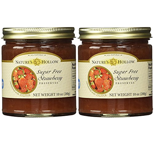 Nature's Hollow, Sugar-Free Strawberry Jam Preserves 2-Pack, 10 Ounces Each