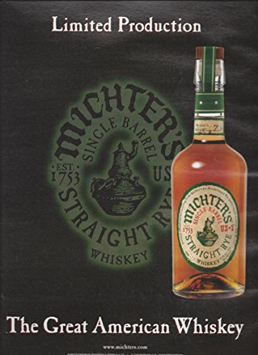 Straight Rye Whiskey - PRINT AD For 2015 Michter's Straight Rye Whiskey: The Great American Whiskey