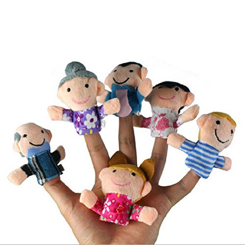 6 Pcs Mignon Famille Finger Puppets doux en peluche Enfants Enfants Éducatifs Narration Props Jouet