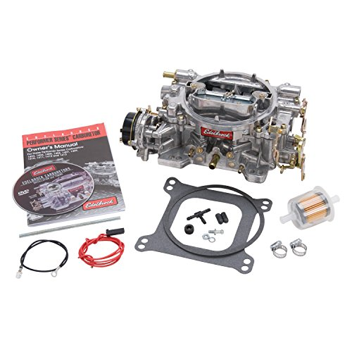 Carburetor Air Edelbrock (Edelbrock 1406 Performer 600 CFM Square Bore 4-Barrel Air Valve Secondary Electric Choke Carburetor)