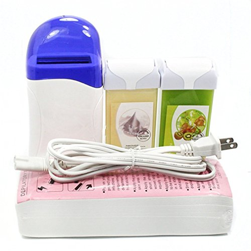 New 4 in 1 Roll on Refillable Depilatory Hot Wax Heater Waxing Hair Removal Cartridge Kit Warmer Salon Tools Machine with