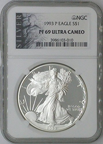 1993 P American Eagle $1 PF69 NGC PF