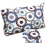 Tribeca Living Medallion Printed Deep Pocket Flannel Sheet Set, Queen