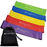 Resistance Bands Set - 5 Extra Wide Resistance Loop Bands Prevent Folding, Twisting | Non-Latex, Anti-Snap Resistance Band Design | Workout Bands for Resistance Training, Pilates, Physical Therapy