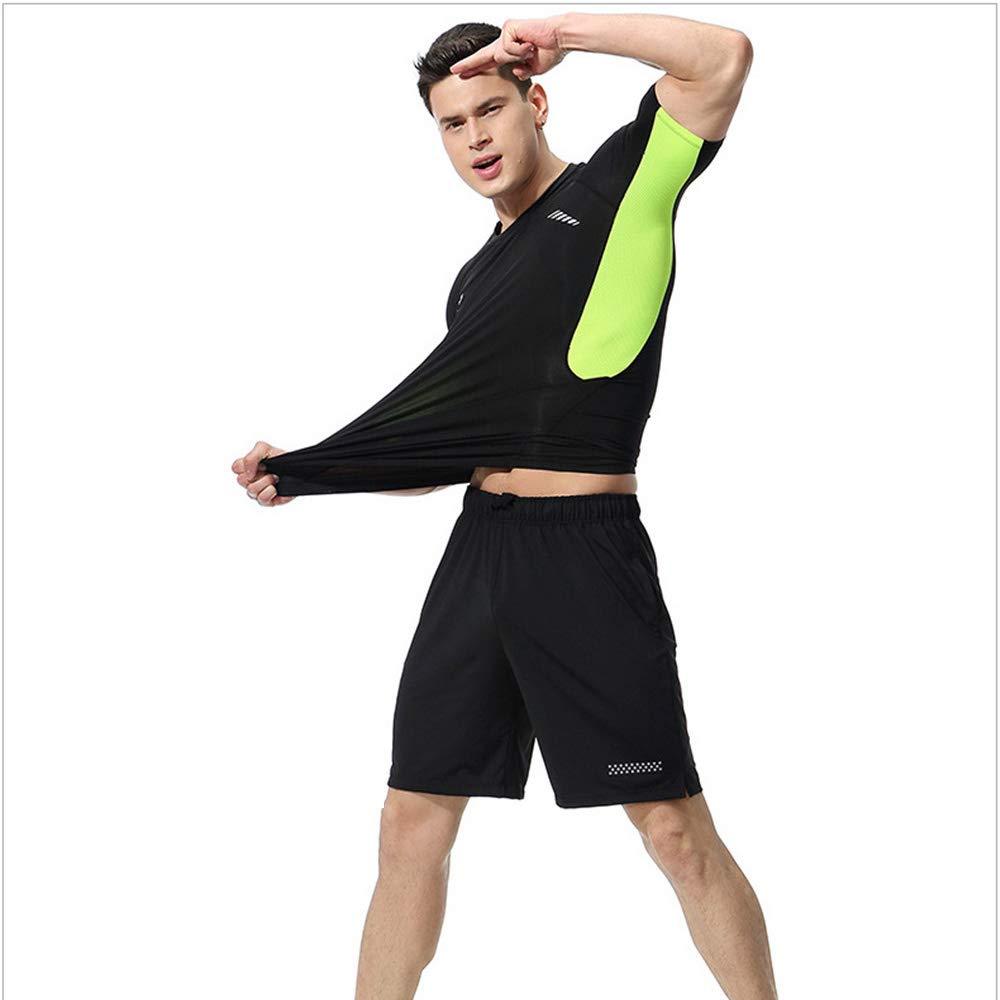 Chengzuoqing Männer Anzug Workout Schweiß Anzug Gewichtsverlust Abnehmen Fitness Gym Übung (Farbe   Grün, Größe   6XL)
