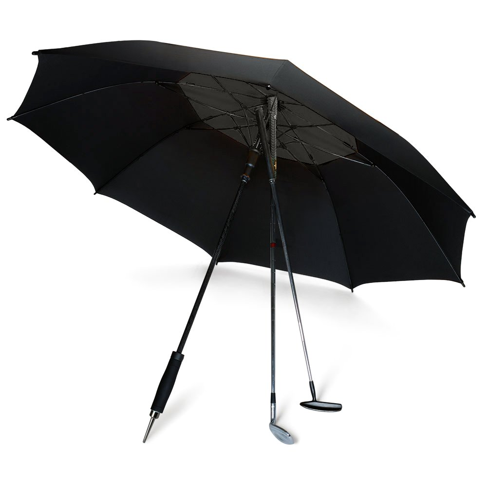 DAVEK GOLF UMBRELLA (Classic Black) - Extra Large Double Canopy Umbrella, 62 Inch Coverage with Automatic Open, Windproof Tested 60 MPH