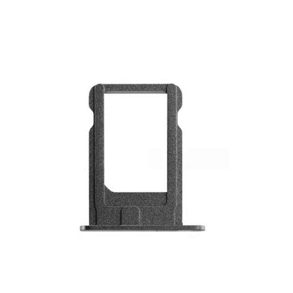 SIM Card Tray Compatible with iPhone 5S, SE (Black) by Group Vertical