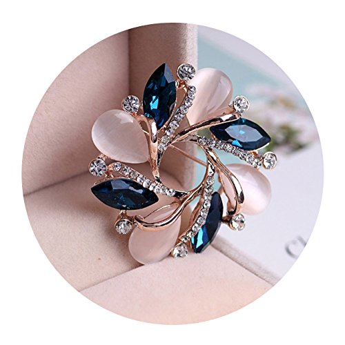 Pin Brooch Stylish (Women Stylish Crystal Bauhinia Shaped Exquisite Brooch For Women Dress Decorative Pin)