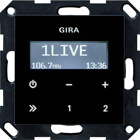 Gira 228405 Radio encastr/ée RDS sans syst/ème de haut-parleur Verre Noir