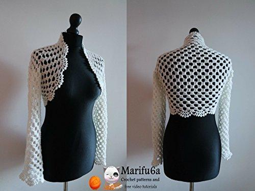 Crochet Easy Bridal Bolero Jacket Pattern Pdf Crochet Easy Bridal