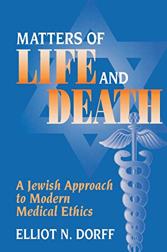 Cover of Matters of Life and Death: A Jewish Approach to Modern Medical Ethics