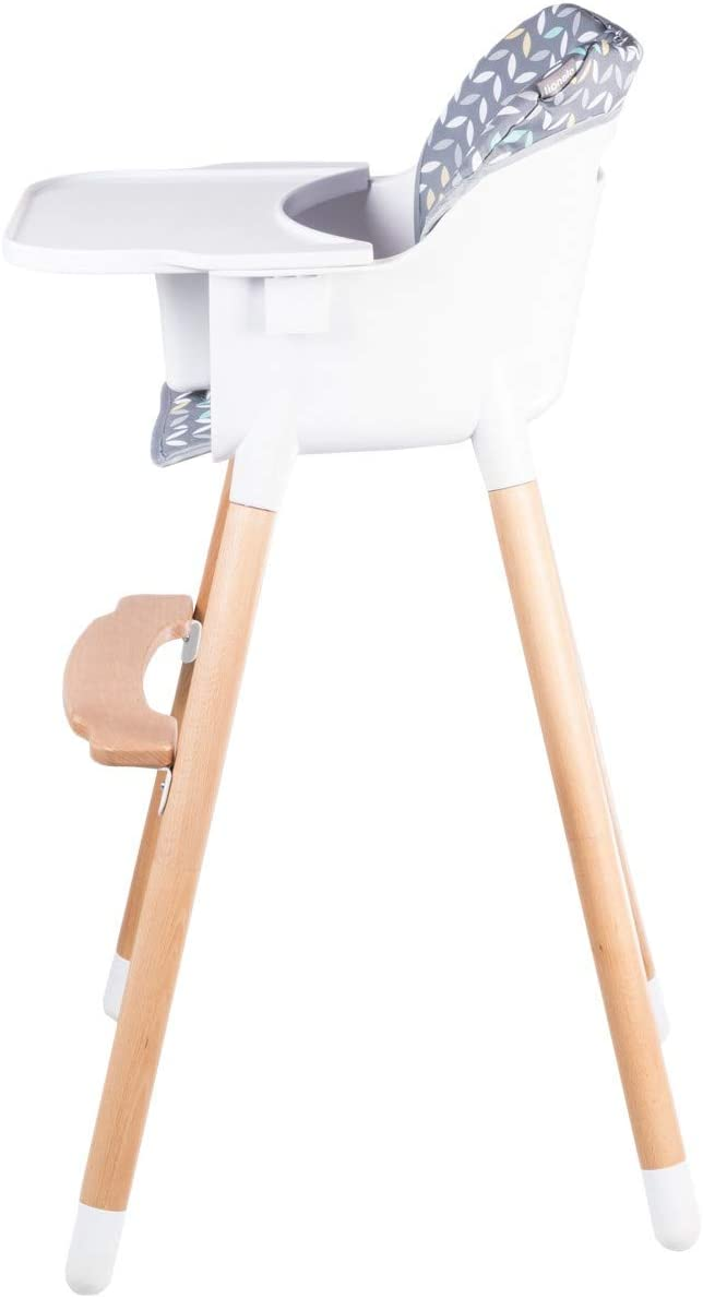 Lionelo Koen 2in1 Childrens High Chair Grey//Yellow