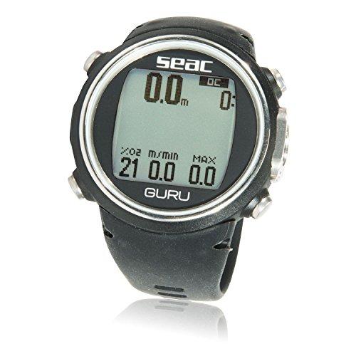 Dive Watch Compass (SEAC Guru Dive Computer Wrist Watch with Digital Compass, Black)