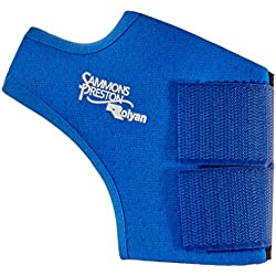 Rolyan Neoprene Wrap On Thumb Support for Right Thumb, Thumb Compression Sleeve for Maximum Hand Function, Easy On Easy Off Brace Support for Thumb Sprains and Strains from Sports Injuries, Medium
