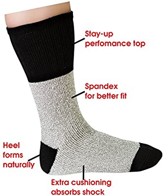 Mens Thermal Socks Ultra Warm Thick Boot Socks 3-pack By DEBRA WEITZNER