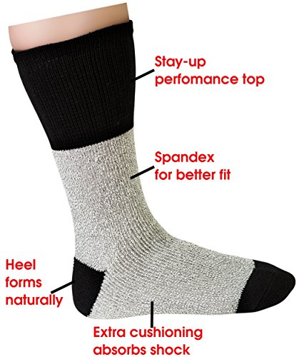 Womens Thermal Socks Ultra Warm Thick Boot Socks 6-pack Black By DEBRA WEITZNER (Length Heavyweight Merino Wool Sock)