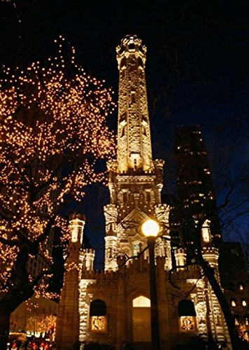 Posterazzi Old Water Tower Chicago Illinois Poster Print by Panoramic Images, (8 x 10)
