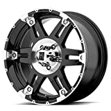 xd wheels 18 - XD Series by KMC Wheels XD797 Spy Gloss Black Wheel With Machined Face (18x9