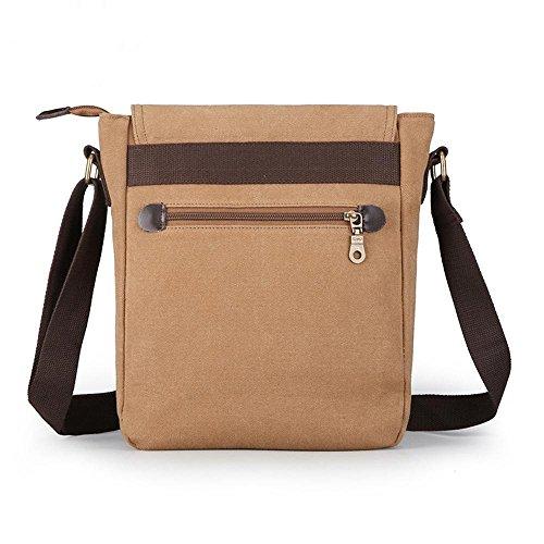 Pack hombres Brown bandolera oblicua viaje oblicua mochila de de penao lona negocios maletín solo Cruz SFSPdq